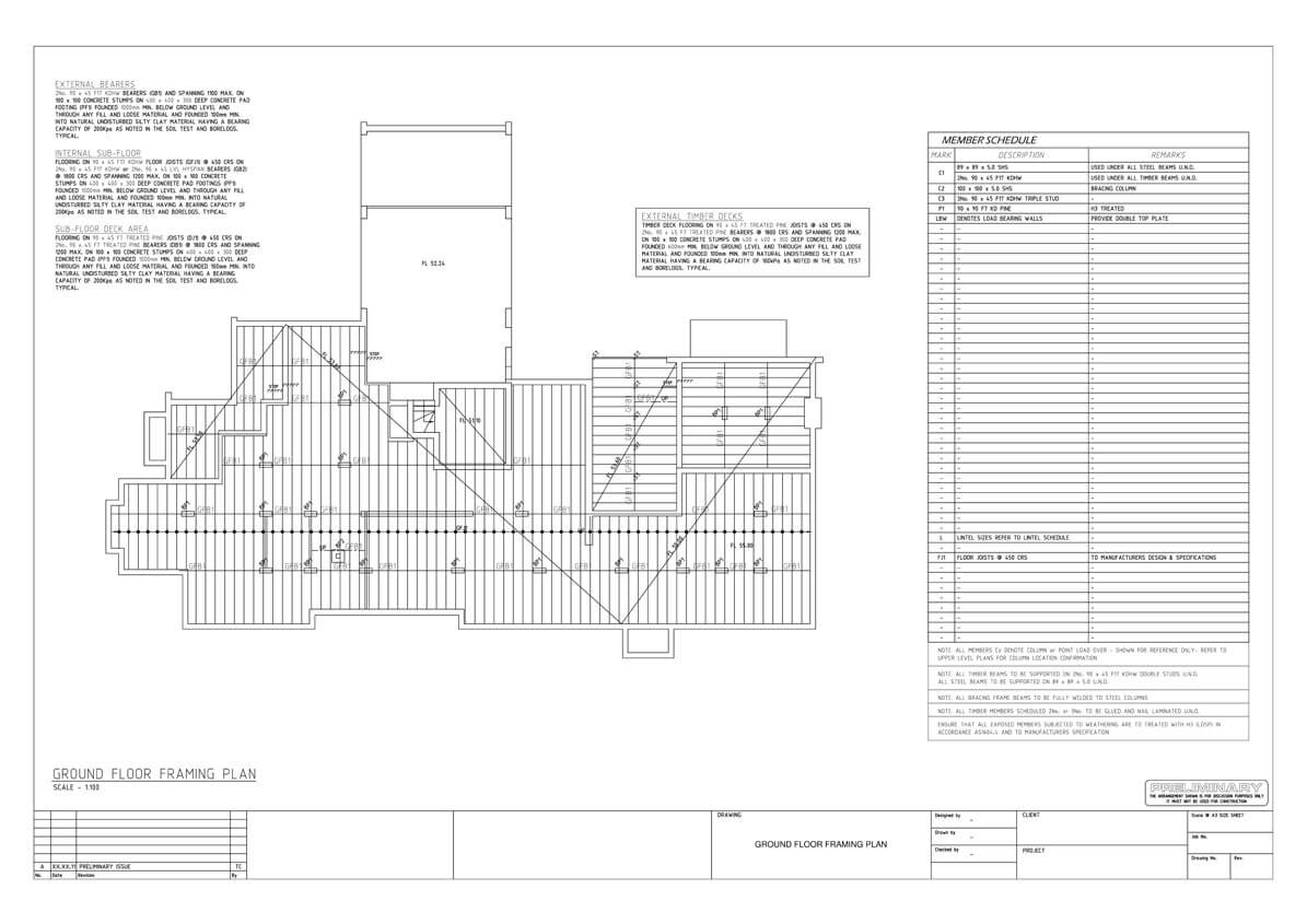 Structural Engineering Sample Architectural Hvac Mechanical Drawing 2d Drafting