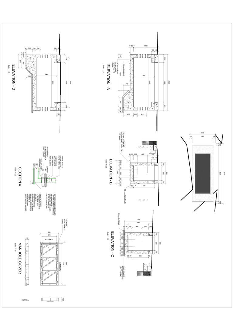 Structural Engineering Sample Architectural Hvac Drawing 2d Drafting
