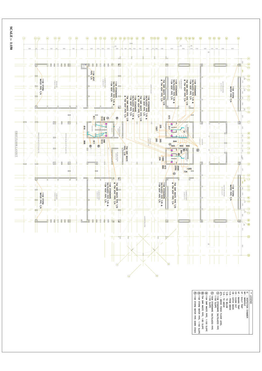 Structural Engineering Sample Architectural Hvac Mechanical Drawing Plumbing 2d Drafting